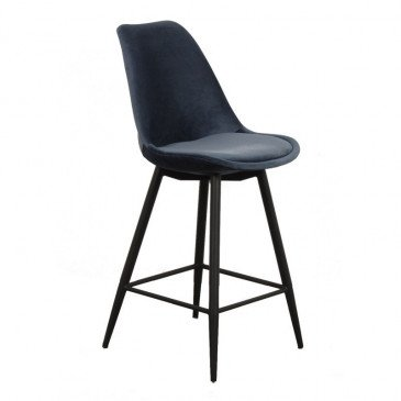 Chaise de Bar Style Contemporain Coloris Bleu Océan Brindille | www.cosy-home-design.fr