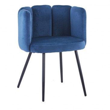 Chaise Style Rétro Coloris Bleu Océan Mano | www.cosy-home-design.fr