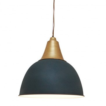 Suspension Style Industriel Cuivre Coloris Gris Farmer | www.cosy-home-design.fr