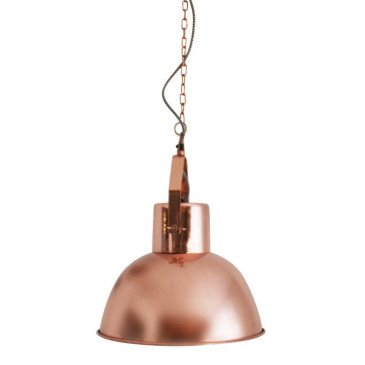 Suspension Style Industriel Métal Coloris Cuivre Farmer | www.cosy-home-design.fr