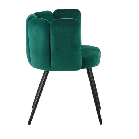 Chaise Style Rétro Coloris Vert Emeraude Mano   www.cosy-home-design.fr