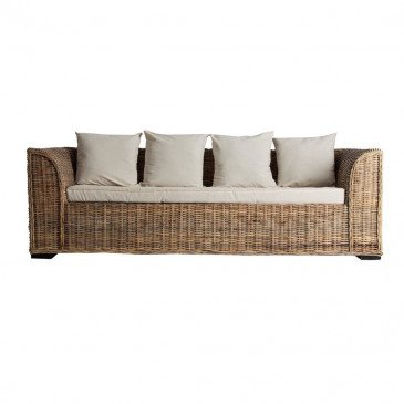 Canapé Naturel Style Contemporain en Rotin Chypre | www.cosy-home-design.fr