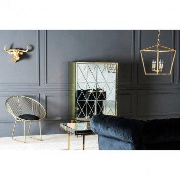 Canapé Noir Style Rétro en Pin et Polyester Sussex | www.cosy-home-design.fr