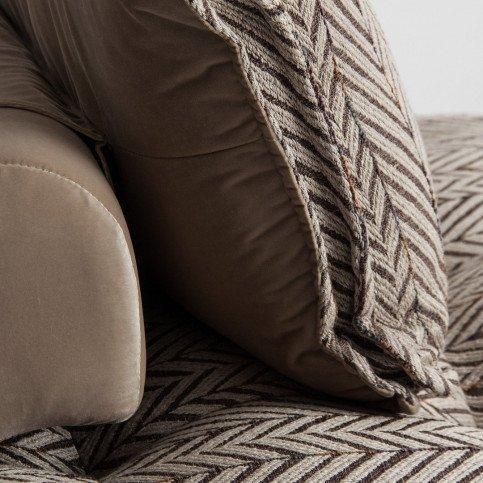 Canapé Marron et Beige Style Contemporain en  et Tissu Stara | www.cosy-home-design.fr