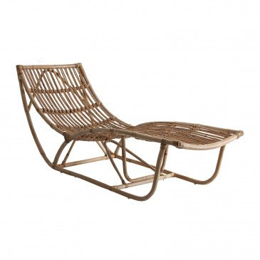 Chaise Longue Naturel Style Contemporain en Rotin Mayda | www.cosy-home-design.fr