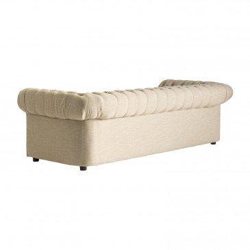 Canapé Écru Style Classique en Pin et Coton Sema   www.cosy-home-design.fr