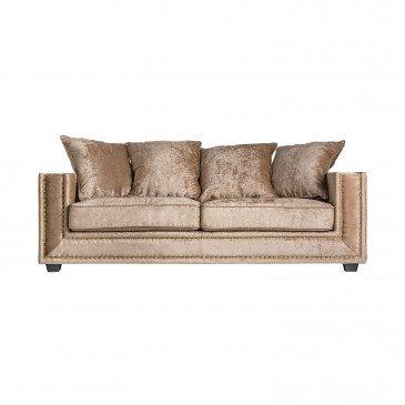 Canapé Doré Style Classique en Pin et Polyester Nivé | www.cosy-home-design.fr