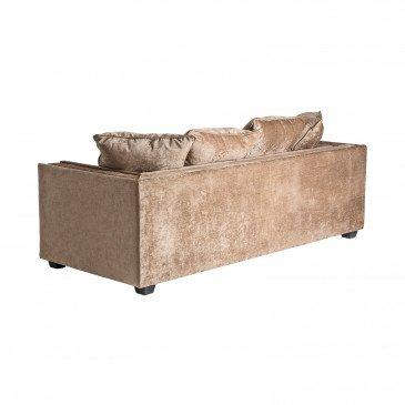Canapé Doré Style Classique en Pin et Polyester Nivé   www.cosy-home-design.fr