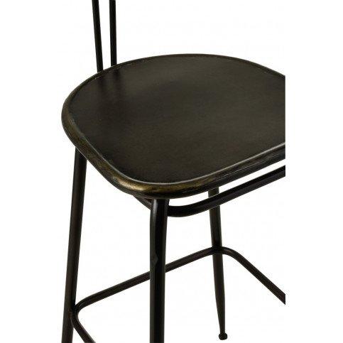 Tabouret De Bar Industriel Métal Noir | www.cosy-home-design.fr