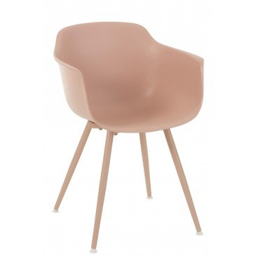 Chaise Sam Polypropylène Nude Rose | www.cosy-home-design.fr