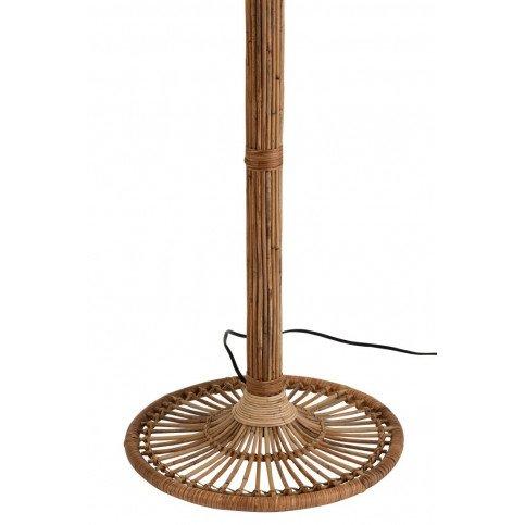 Lampe Sur Pied et Abat-Jour Naia Rotin Naturel/Blanc | www.cosy-home-design.fr