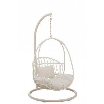 Chaise Suspendue Enfant Cosy Acier Blanc | www.cosy-home-design.fr