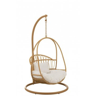 Chaise Suspendue Enfant Cosy Acier Naturel  | www.cosy-home-design.fr