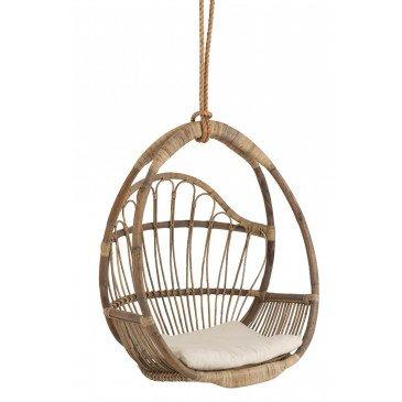 Siège Suspendu Enfant Oeuf Rotin/Corde Naturel | www.cosy-home-design.fr