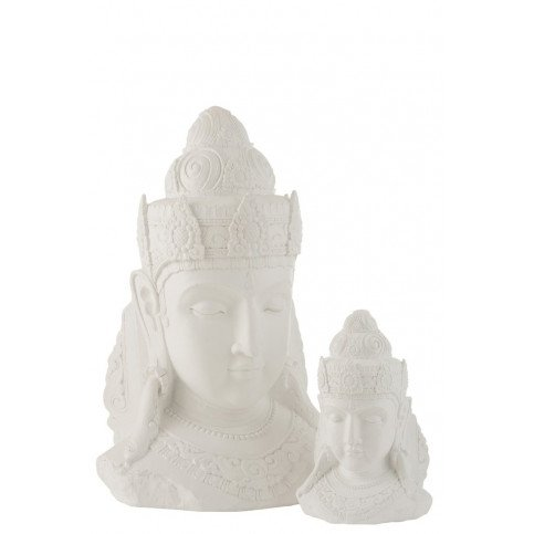 Tête Bouddha Magnésie Blanc Large | www.cosy-home-design.fr