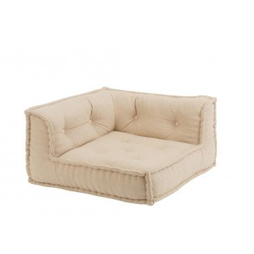 Coussin Angle Coton Beige   www.cosy-home-design.fr