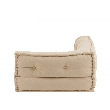 Coussin Angle Coton Beige | www.cosy-home-design.fr