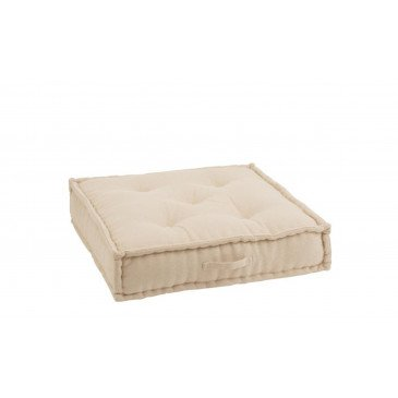 Coussin Bas Coton Beige | www.cosy-home-design.fr