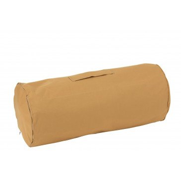 Pouf Carré Polyester Ocre | www.cosy-home-design.fr