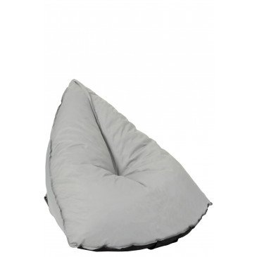 Pouf Poire Triangulaire Polyester Gris | www.cosy-home-design.fr