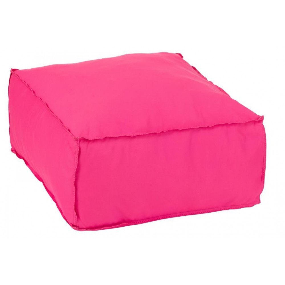 Pouf Carré Polyester Rose | www.cosy-home-design.fr