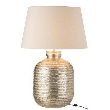 Lampe et Abat-Jour Rond Aluminium Gris | www.cosy-home-design.fr