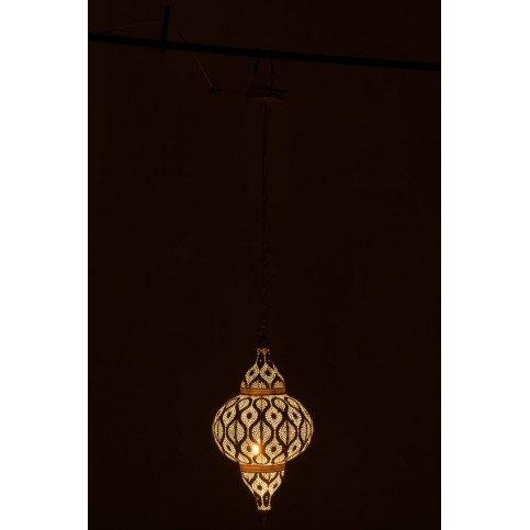 Lampe Suspendue Orientale Trous Métal Blanc  | www.cosy-home-design.fr