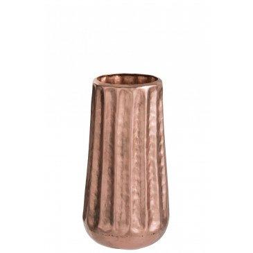 Vase Nervuré Aluminium Cuivre Small | www.cosy-home-design.fr