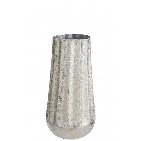 Vase Nervuré Aluminium Argent Small | www.cosy-home-design.fr