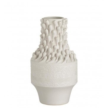 Vase Coquillages Céramique Blanc | www.cosy-home-design.fr