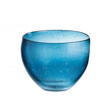 Vase Rond Bulles Verre Bleu Foncé | www.cosy-home-design.fr