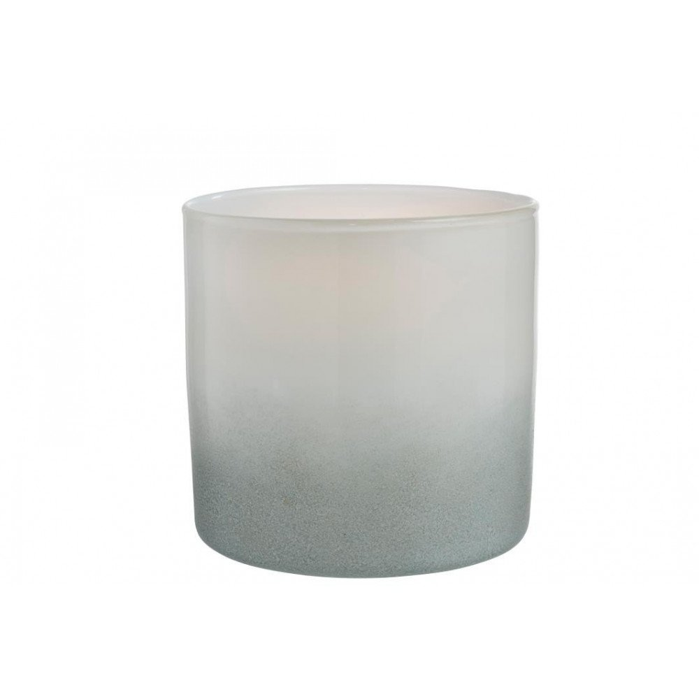 Vase Tara Cylindrique Verre Blanc/Gris | www.cosy-home-design.fr