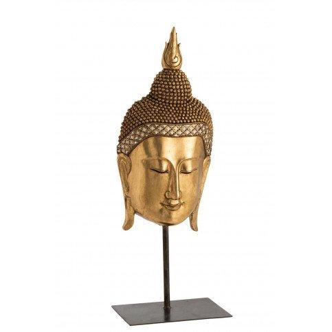 Bouddha Tête Sur Pied Résine Or | www.cosy-home-design.fr