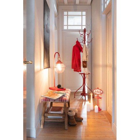 Banc Bois/Textile Marron/Rouge   www.cosy-home-design.fr