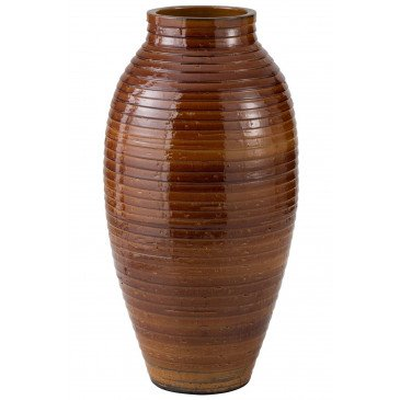 Vase Ethnique Céramique Marron Large | www.cosy-home-design.fr