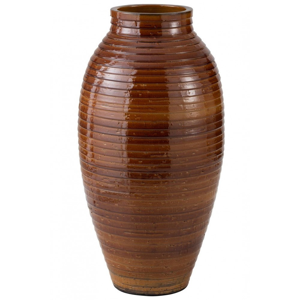 Vase Ethnique Céramique Marron Large | www.cosy-home-design.fr