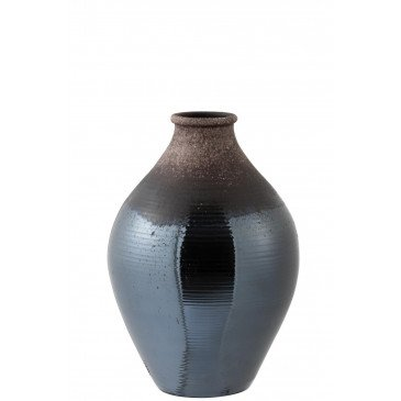 Vase Brillant Céramique Métal Marron Small | www.cosy-home-design.fr