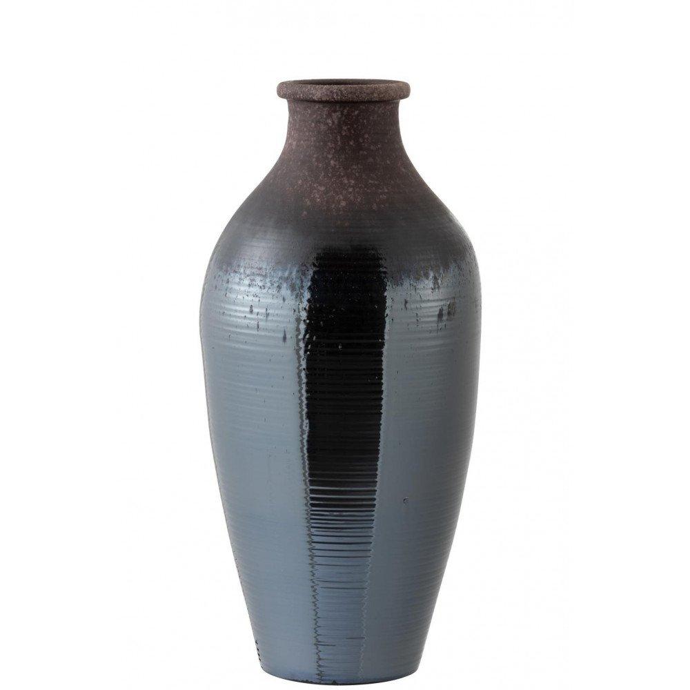Vase Brillant Céramique Métal Marron Large | www.cosy-home-design.fr