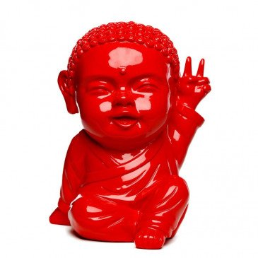 Figurine Iki Buddha Pop Glossy Rouge | www.cosy-home-design.fr