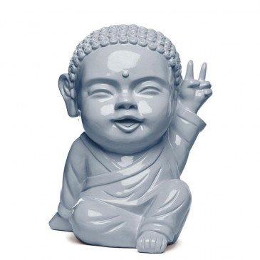 Figurine Iki Buddha Pop Glossy Gris | www.cosy-home-design.fr