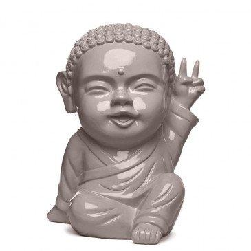 Figurine Iki Buddha Pop Glossy Taupe | www.cosy-home-design.fr
