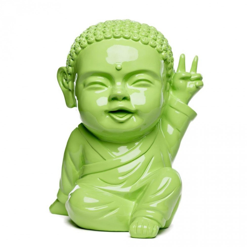 Figurine Iki Buddha Pop Glossy Vert Granny   www.cosy-home-design.fr