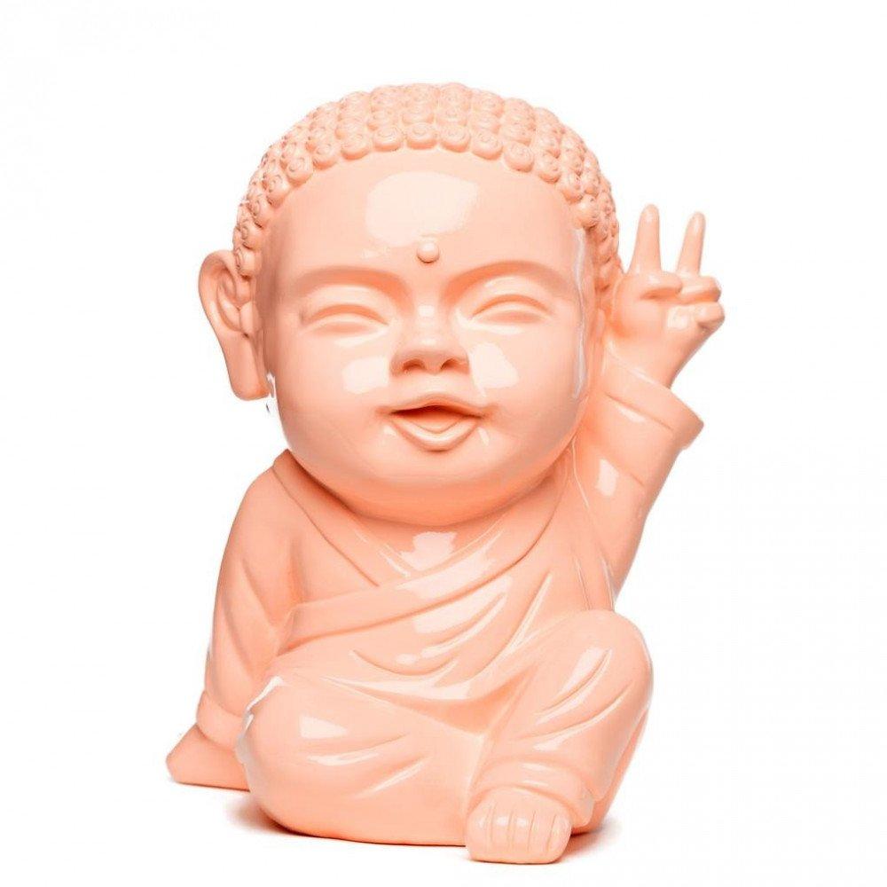 Figurine Iki Buddha Pop Glossy Corail | www.cosy-home-design.fr