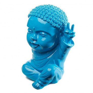 Figurine Iki Buddha Pop Glossy Bleu | www.cosy-home-design.fr