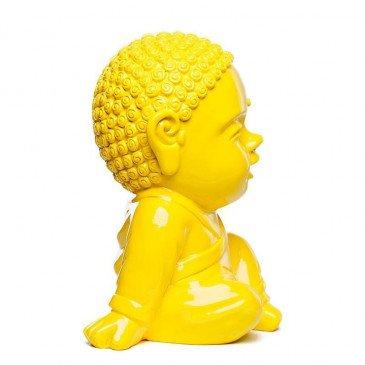 Figurine Iki Buddha Pop Glossy Jaune | www.cosy-home-design.fr