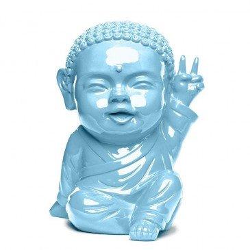 Figurine Iki Buddha Pop Glossy Bleu Layette | www.cosy-home-design.fr
