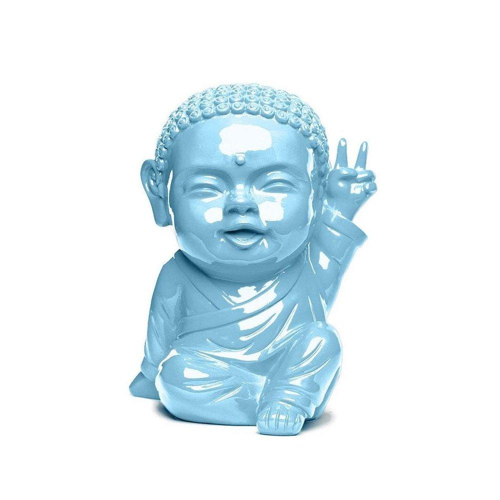 Figurine Iki Buddha Pop Glossy Bleu Layette   www.cosy-home-design.fr