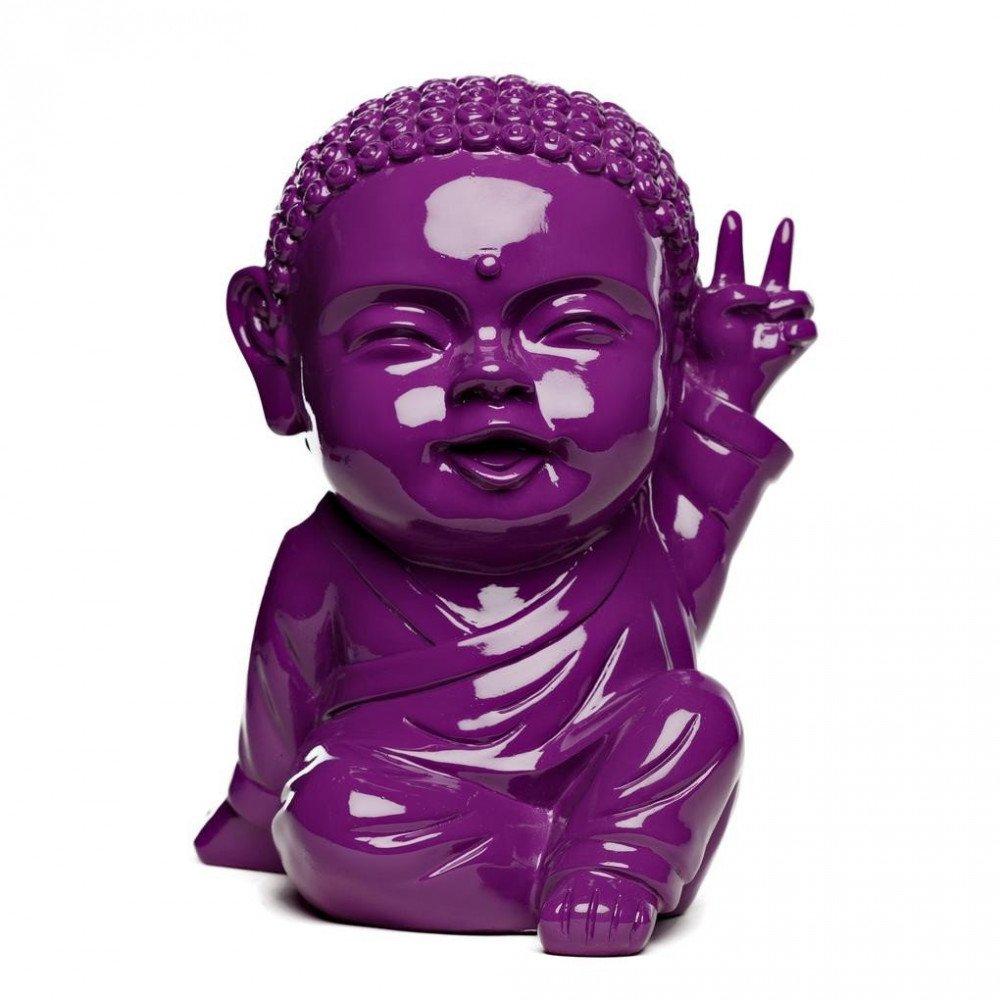 Figurine Iki Buddha Pop Glossy Violet | www.cosy-home-design.fr