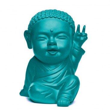 Figurine Iki Buddha Pop Mat Vert d'Eau | www.cosy-home-design.fr