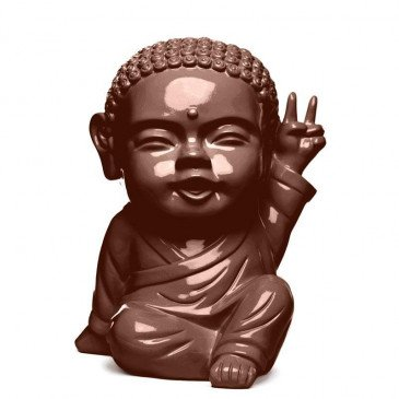 Figurine Iki Buddha Pop Glossy Chocolat | www.cosy-home-design.fr